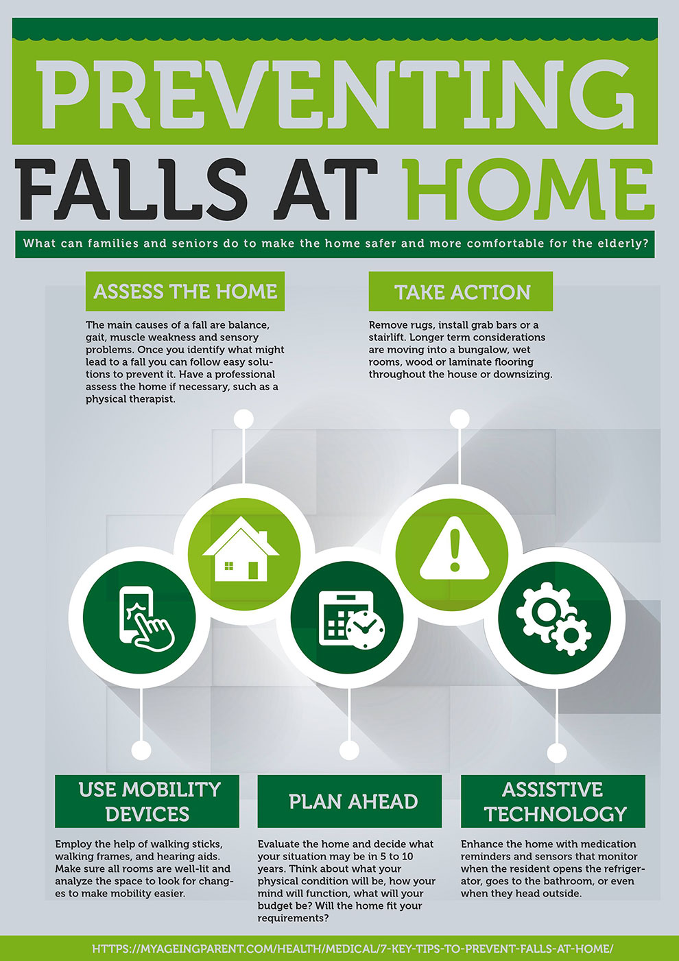 Prevent Falls At Home Infographic