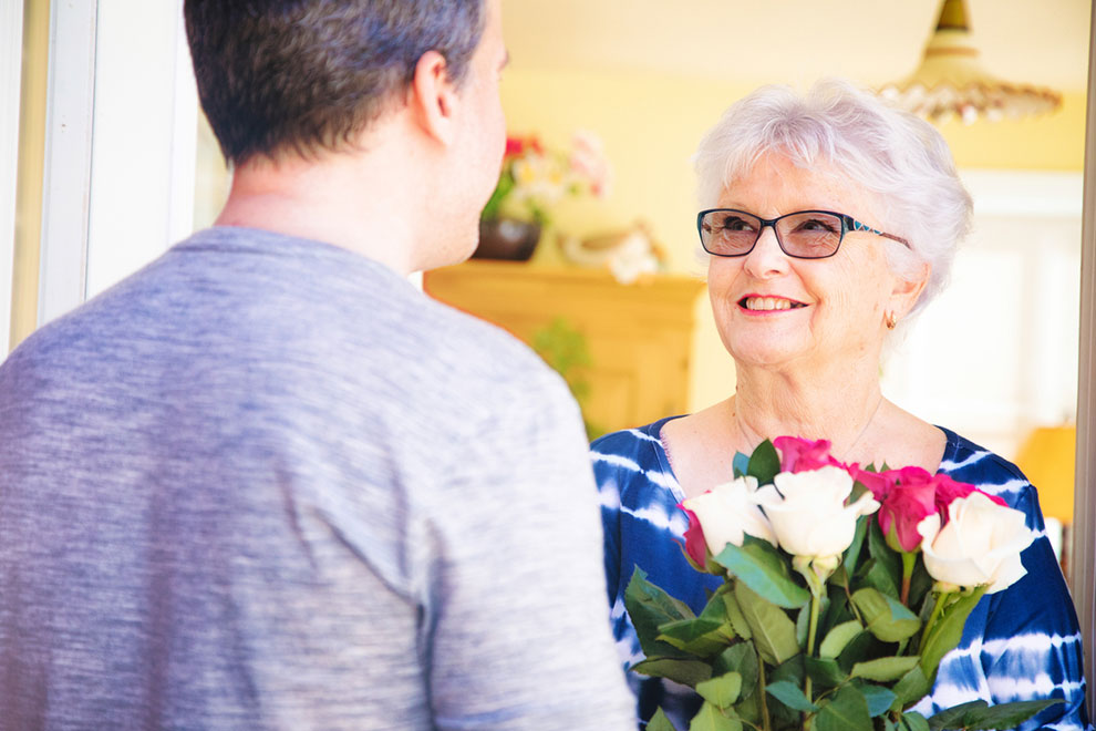 Receiving Flowers can help with Stress
