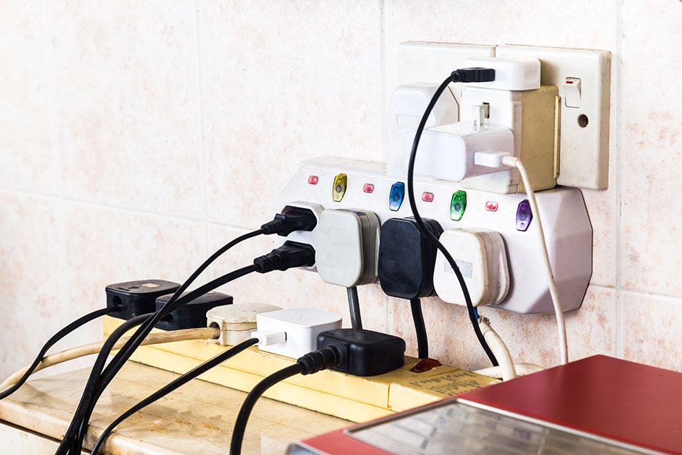 Electrical Safety - overloaded sockets